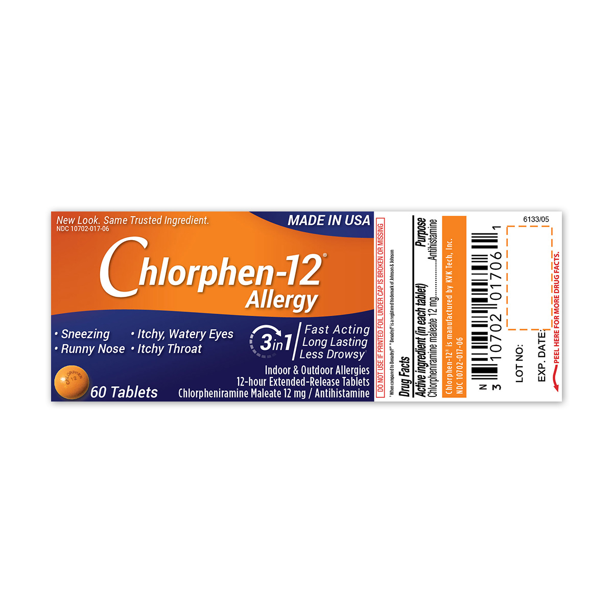 Chlorphen -12, 12mg Extended-Release Tablet s , 60 Count